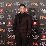 Unax Ugalde posa en la alfombra roja de los Premios Goya 2018