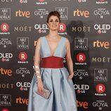 Ruth Gabriel posa en la alfombra roja de los Premios Goya 2018