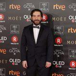 Sergio G. Sánchez en la alfombra roja de los Goya 2018