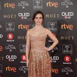 Marta Etura posa en la alfombra roja de los Premios Goya 2018