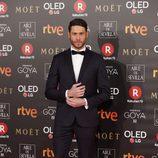 José Lamuño posa en la Alfombra Roja de los Goya 2018