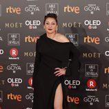 Mariola Fuentes posa en la alfombra roja de los Premios Goya 2018
