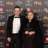 Julita y Gustavo Salmerón en los Premios Goya 2018
