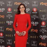 Leonor Watling posa en la alfombra roja de los Premios Goya 2018