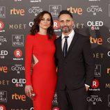 Leonor Watling y Jorge Drexler posan en la alfombra roja de los Premios Goya 2018