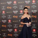Juana Acosta posa en la alfombra roja de los Premios Goya 2018