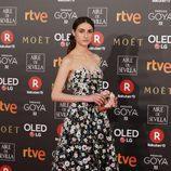 Sandra Escancea posa en la alfombra roja de los Premios Goya 2018