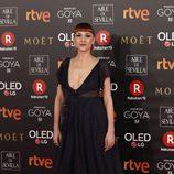 Najwa Nimri posa en la alfombra roja de los Premios Goya 2018