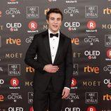 Pol Monen posa en la alfombra roja de los Premios Goya 2018