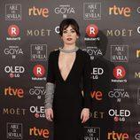 Anna Castillo posa en la alfombra roja de los Premios Goya 2018