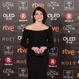 Nora Navas posa en la alfombra roja de los Premios Goya 2018