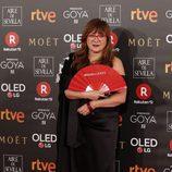 Isabel Coixet posa en la alfombra roja de los Premios Goya 2018