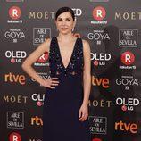 Marian Álvarez posa en la alfombra roja de los Premios Goya 2018