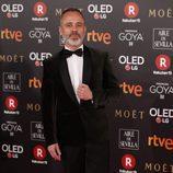 Javier Gutiérrez posa en los Premios Goya 2018