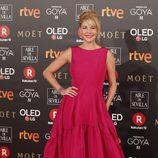 Belén Rueda posa en la alfombra roja de los Premios Goya 2018