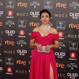 Adriana Paz posa en la alfombra roja de los Premios Goya 2018