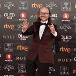 Santiago Segura posa en la alfombra roja de los Premios Goya 2018