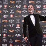 Javier Gutiérrez posa con el premio a Mejor Actor Protagonista en los Goya 2018