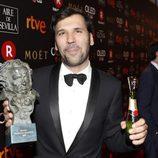 Sebastián Lelio posa con el Premio a Mejor Película Iberoamericana en los Goya 2018