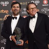 Ruben Ostlund posa con el premio a Mejor Película Europea en los Goya 2018