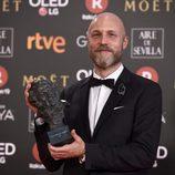 """Mikel Serrano, de """"Handia"""" con su Goya 2018 a Mejor dirección artística"""