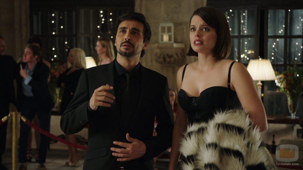 Canco Rodríguez y Adriana Torrebejano en el primer capítulo de 'Cuerpo de élite'