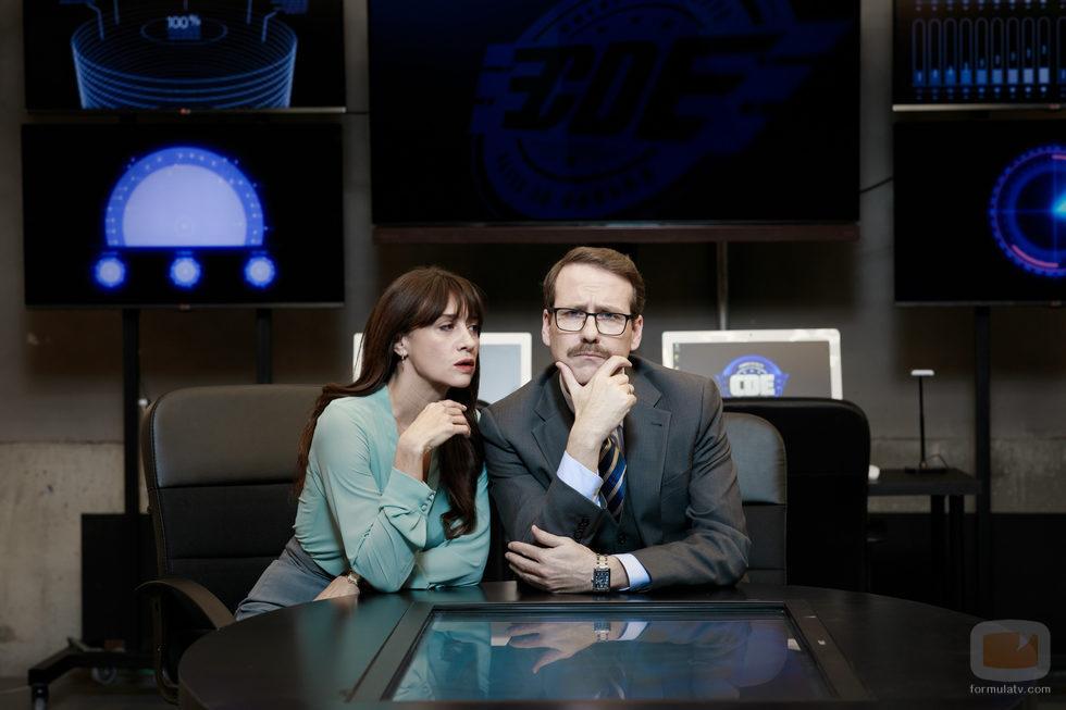 María Botto y Joaquín Reyes en una foto promocional de 'Cuerpo de élite'