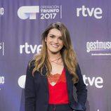 Amaia posa para los medios en la rueda de prensa tras ganar 'OT 2017'