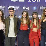 Los cinco finalistas de 'OT 2017' posan para los medios