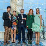 La presentadora y el jurado de 'Maestros de la costura' con Ana Locking