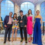 Raquel Sánchez Silva y el jurado de 'Maestros de la costura', con Eugenia Silva