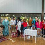 Los concursantes de 'Maestros de la costura', en el Museo del Traje