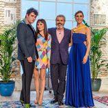 El jurado y Raquel Sánchez Silva posan en 'Maestros de la costura'