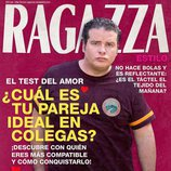 Daniel Huarte en la portada ficticia de Ragazza para la serie 'Colegas'