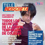 Rafa Reaño en la portada ficticia de TeleIndiscreta para la promoción de 'Colegas'