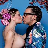 María Lapiedra y Torito se besan en la revista Primera Línea