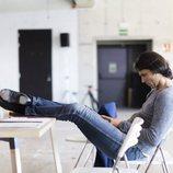 Igor Yebra, director de la Escuela descansando en los castings de 'Fama a bailar 6'