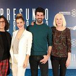 Elvira Mínguez, Alejandra Onieva, Miguel Ángel Muñoz y Susi Sánchez en la presentación de 'Presunto culpable'