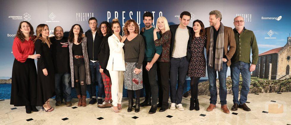 Todos los actores de 'Presunto culpable' en la presentación de la serie