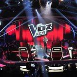 Jesús Vázquez en el plató de 'La Voz Kids 4'