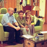 Javier Cámara, Amparo Baró y Blanca Portillo en el sofá en '7 vidas'