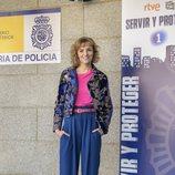 Alejandra Lorente en la presentación de la segunda temporada de 'Servir y proteger'