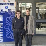 Luisa Martín y Andrea del Río en la presentación de la segunda temporada de 'Servir y proteger'