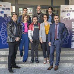 Las nuevas incorporaciones y los protagonistas en la presentación de la segunda temporada de 'Servir y proteger'