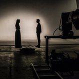 """Las figura de Amaia y Alfred en el rodaje del videoclip de """"Tu canción"""""""