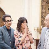 Berto, Sandra y Julio en el bautizo de Lucas en 'Mira lo que has hecho'