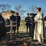 Patrick Criado, frente a varios actores en 'Asesinato en la Universidad'