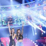 Anna Simon y Cristina Pedroche como Ana Guerra y Aitana en la gala 19 de 'Tu cara me suena'