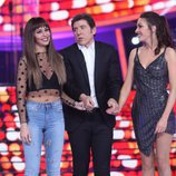 Cristina Pedroche y Anna Simon junto a Manel Fuentes en la gala 19 de 'Tu cara me suena'