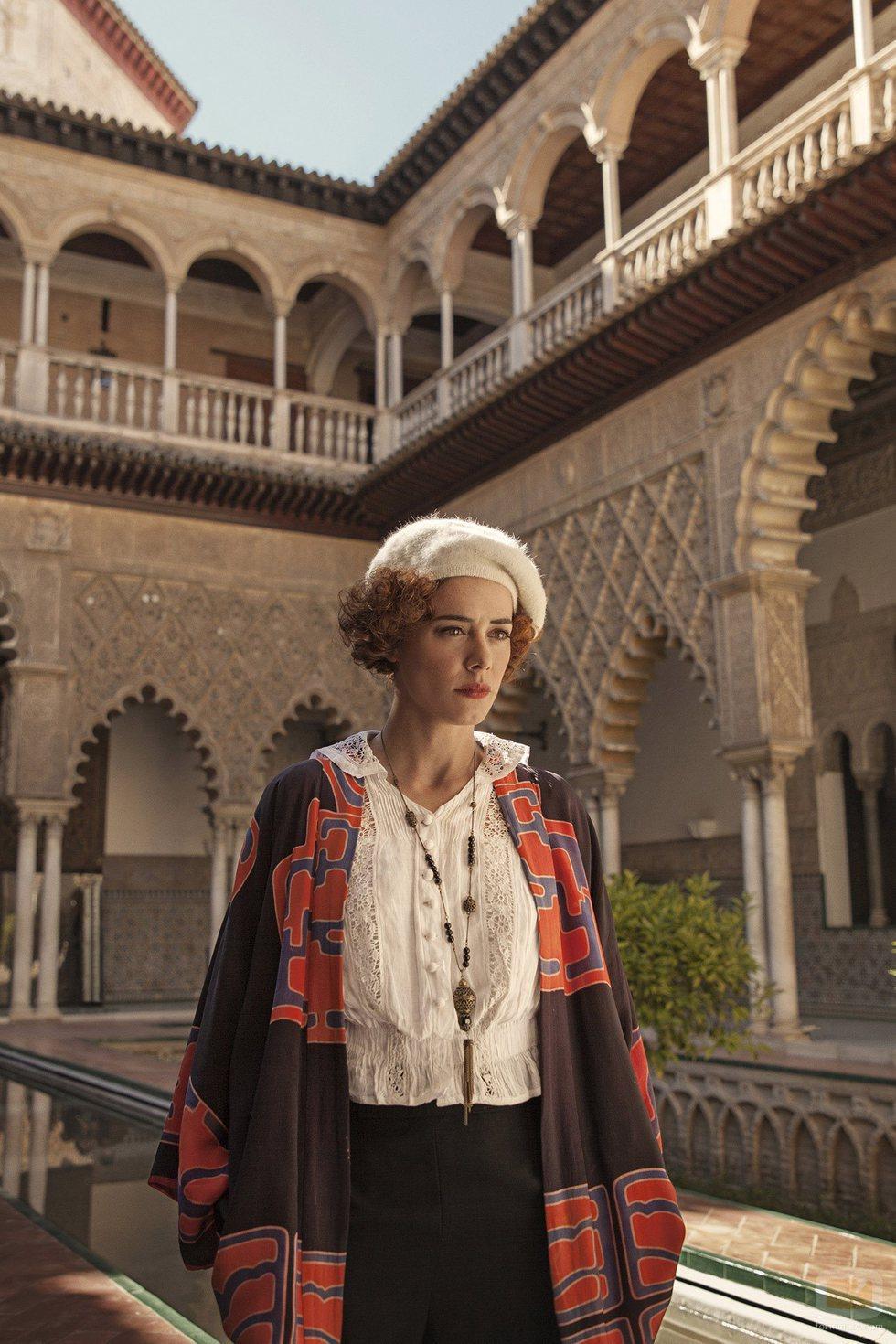 Patricia López Arnaiz posa durante el rodaje de 'La otra mirada'